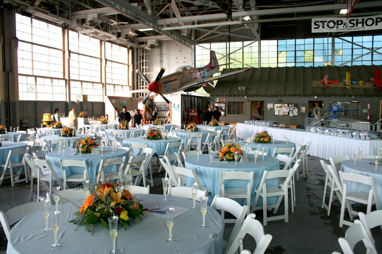 North Hangar set for reception2