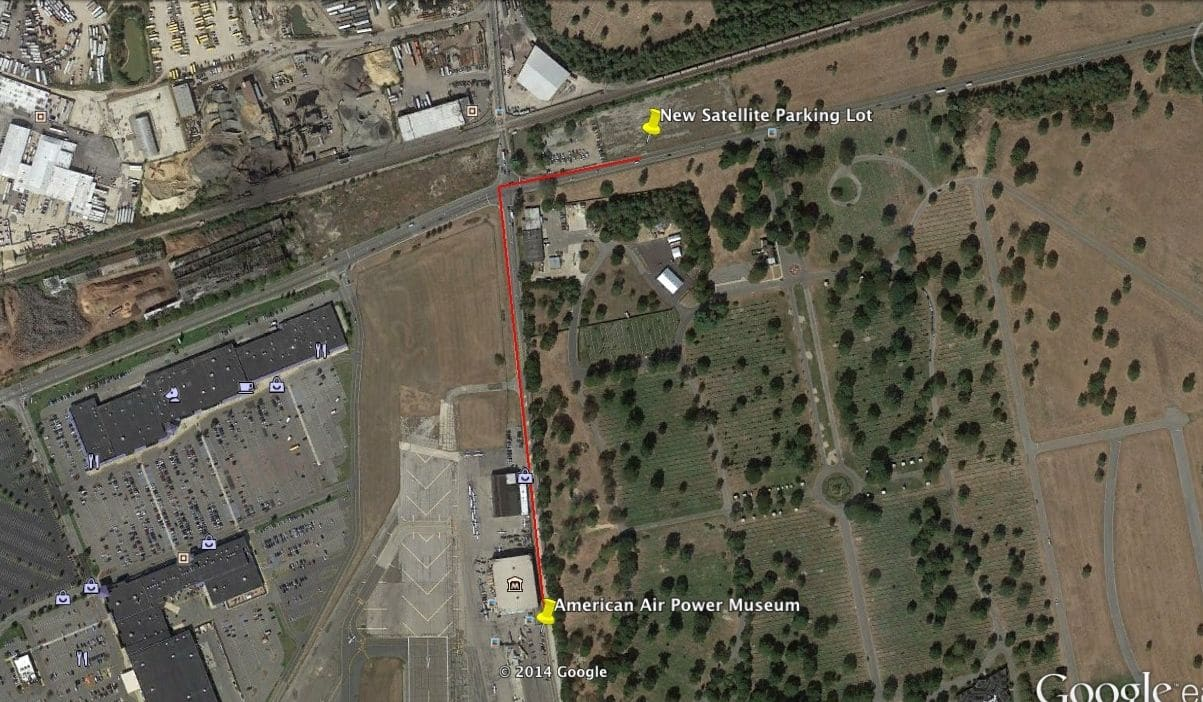 New Free offsite Parking Lot Available this Weekend