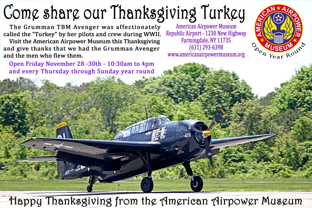 Happy Thanksgiving from all of us at the American Airpower Museum
