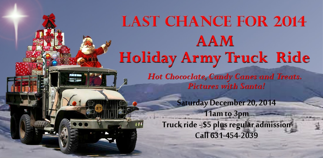 Don't Miss a Chance to Ride with Santa as he readies to Deliver Presents!