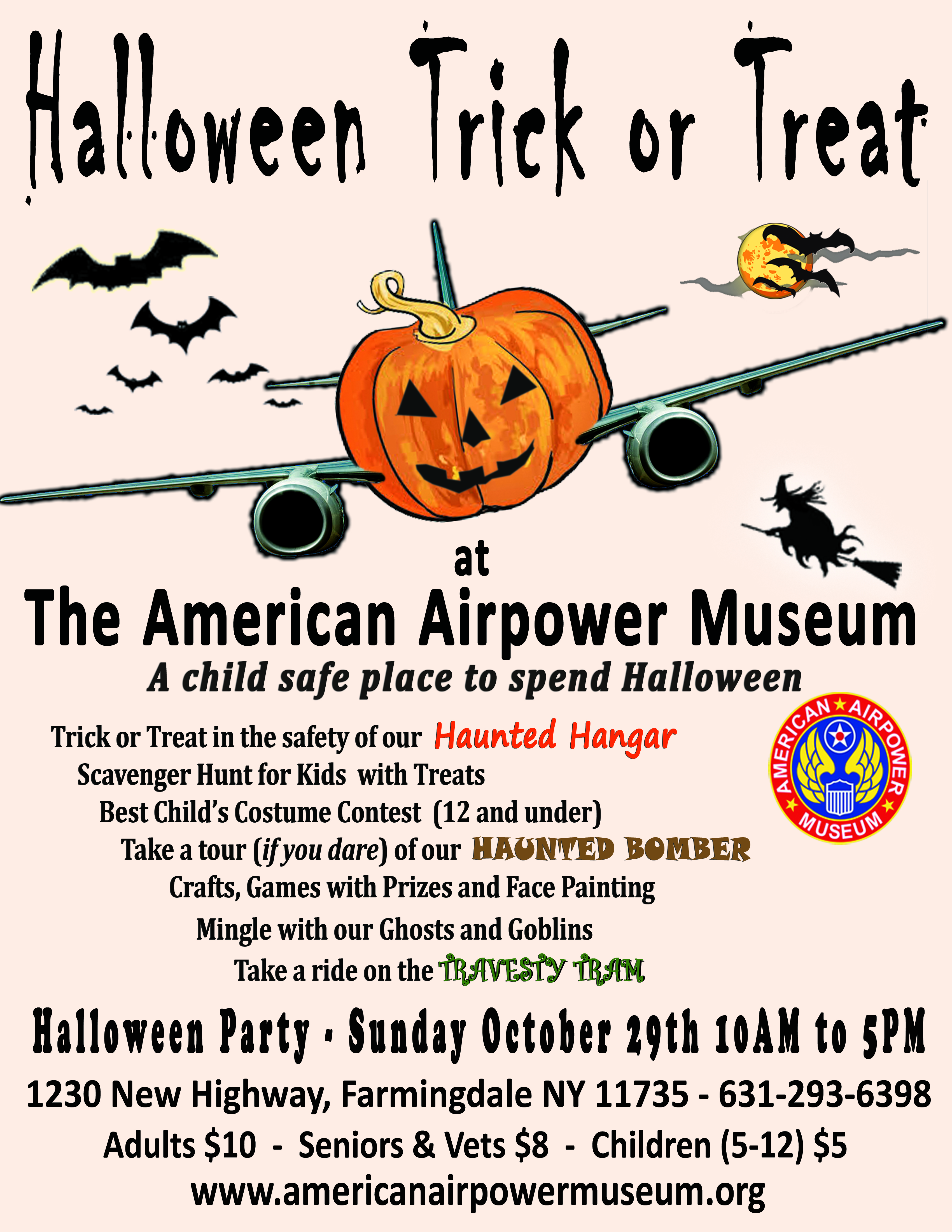 American Scarepower Museum Halloween Party – Kid Safe