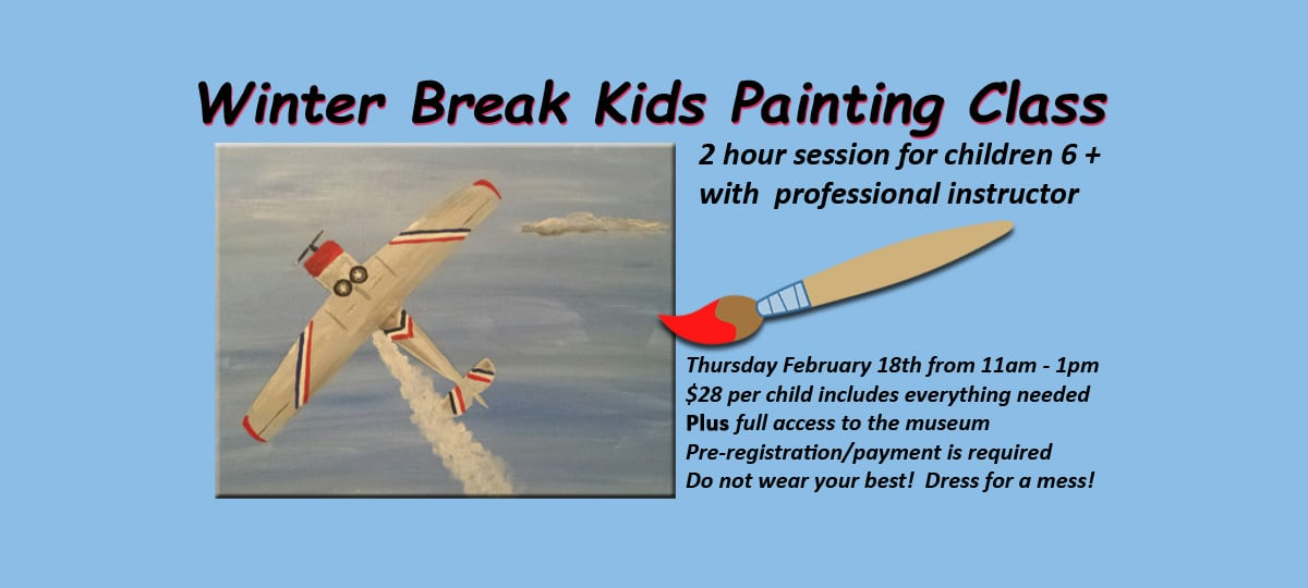 American Airpower Museum Airplane Portrait Painting Class