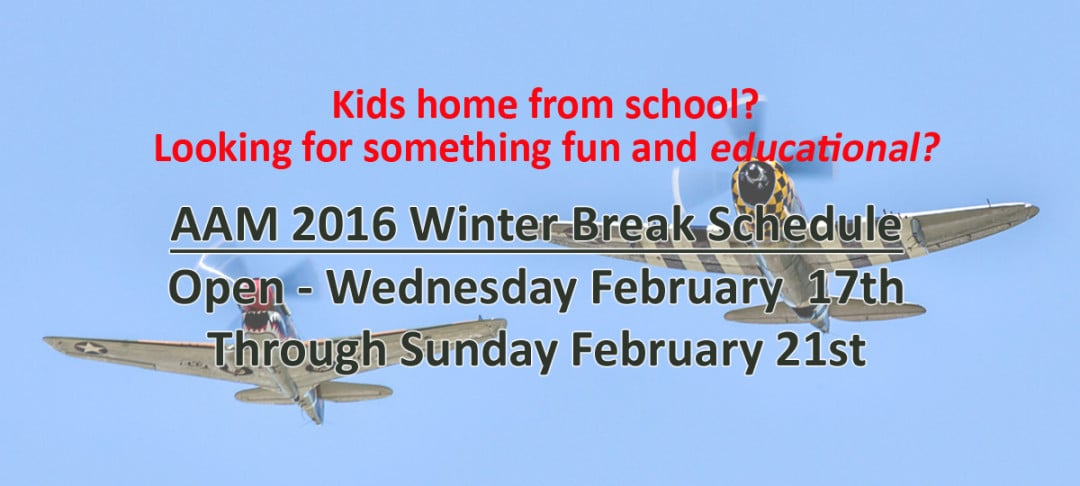 Winter break 2016 schedule