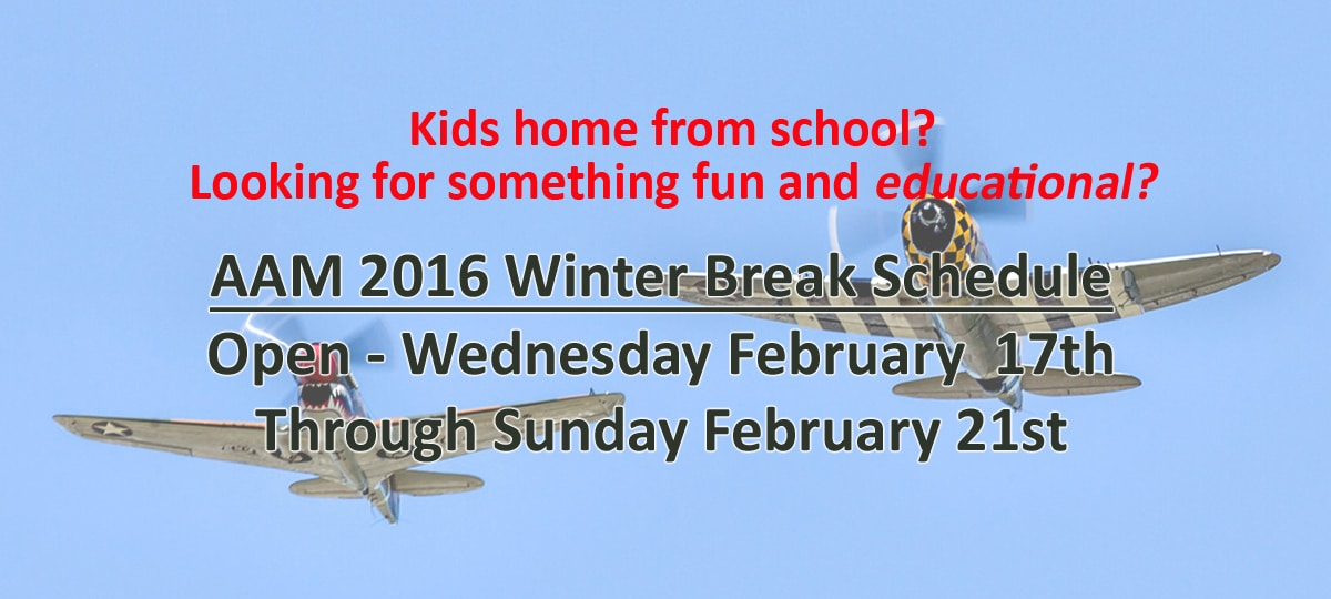 Winter Break Schedule
