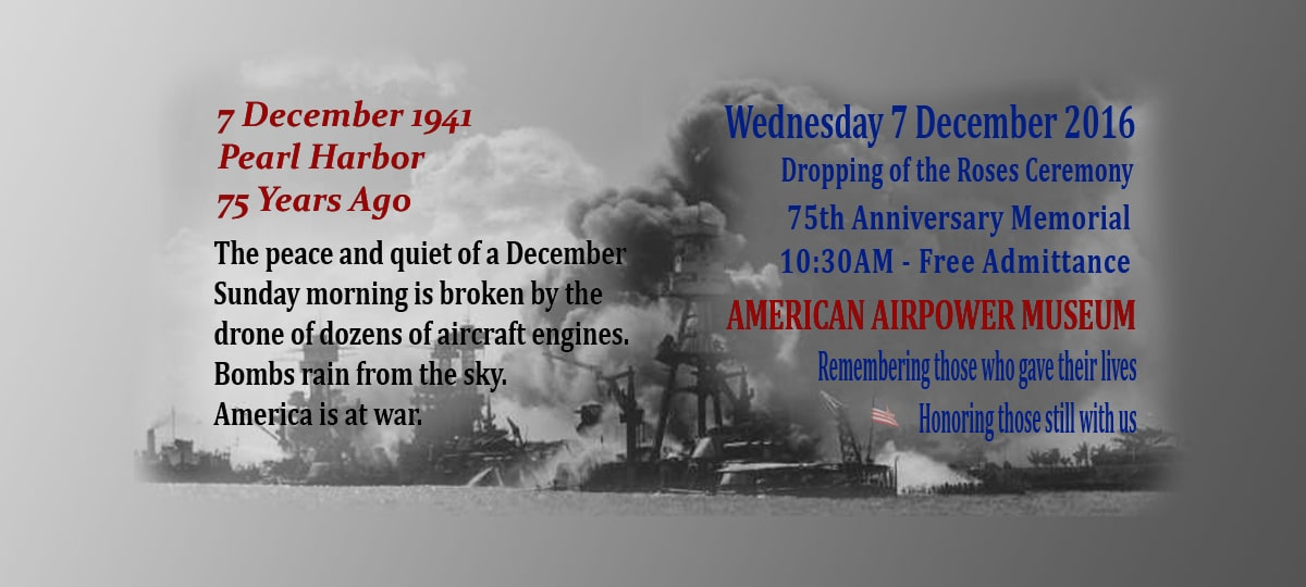 Dropping of the Rose Ceremony – 75th Anniversary of the Bombing of Pearl Harbor