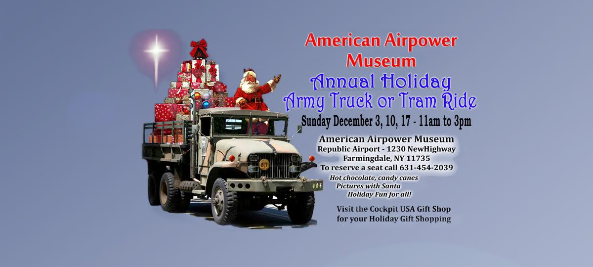 Annual Holiday Army Truck or Tram Ride 2017