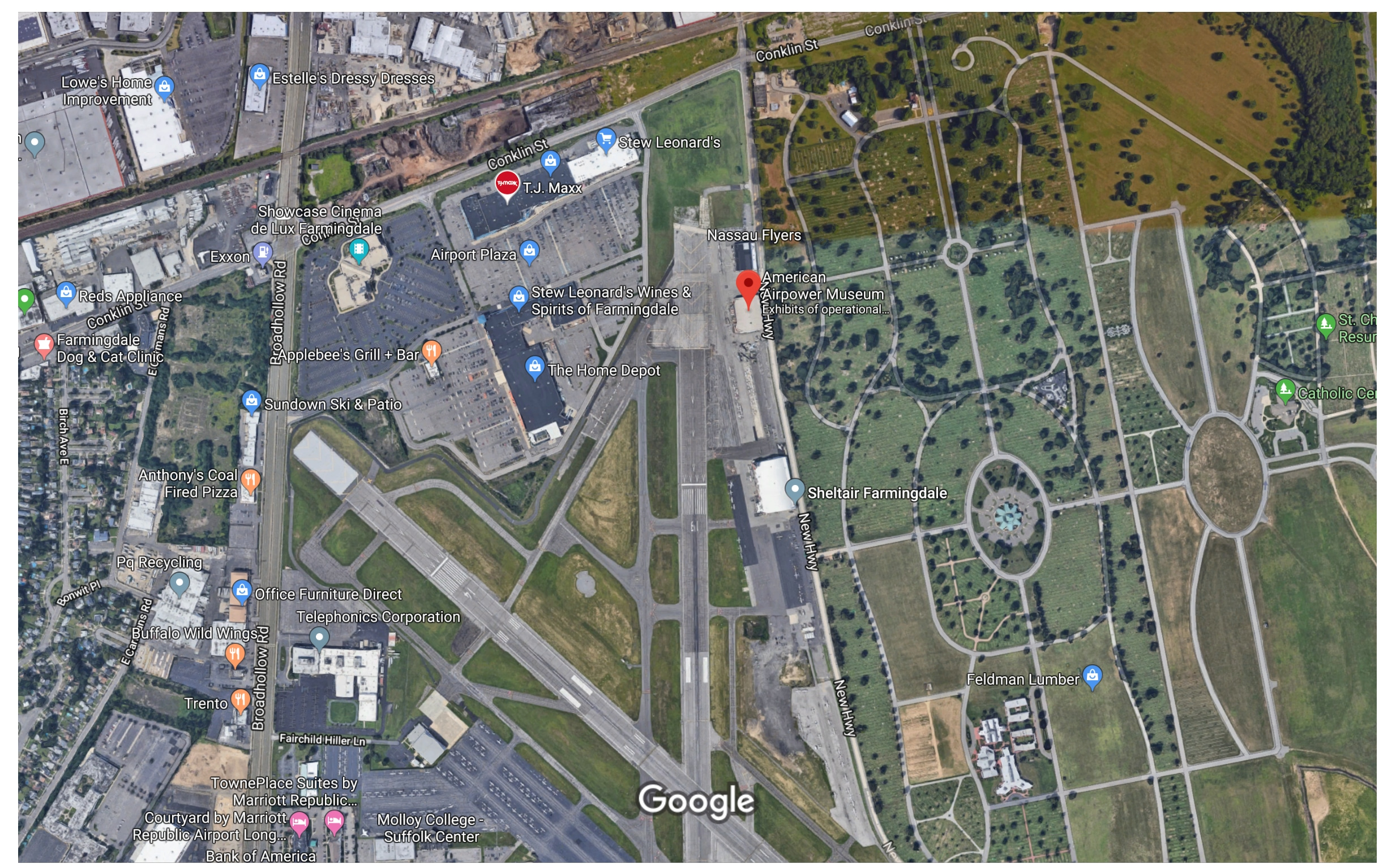 Location & Directions - American Airpower Museum on nearest golden corral locations, applebee's store locations, number of applebee's locations, chili's locations, huddle house locations,