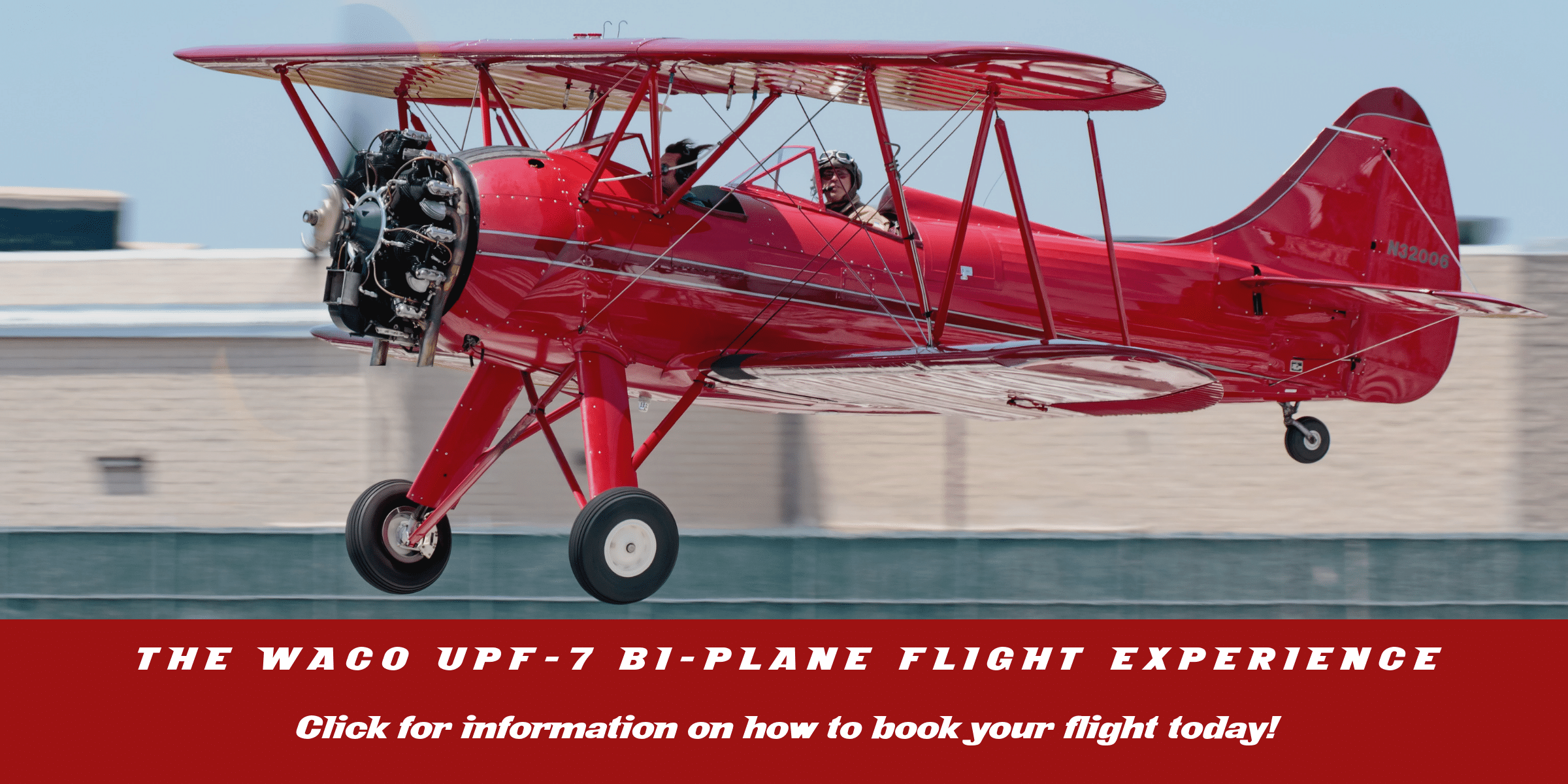 Fly in the open cockpit WACO UPF-7 Bi-Plane! - American Airpower Museum